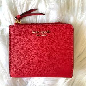 Kate spade red flap wallet